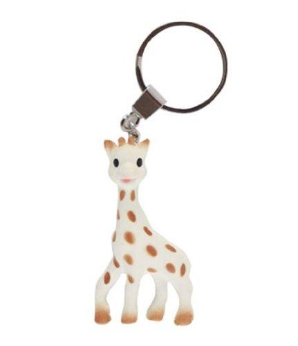 Vulli Sophie Giraffe So Pure Sophie the Giraffe Teething Ring Key Chain, Baby & Kids Zone
