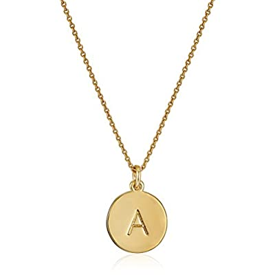 "Top kate spade new york Gold-Tone Alphabet Pendant Necklace, 18"" free shipping"