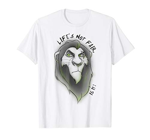 Disney Lion King Scar Life Not Fair Airbrush Style T-Shirt