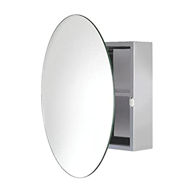 Croydex Severn 21-1/2 in. W x 21-1/2 in. H x 4-3/10 in. D Frameless Stainless Steel Surface-Mount Bathroom Medicine… -  - shelves-cabinets, bathroom-fixtures-hardware, bathroom - 3170uUIb5IL. SS400  -