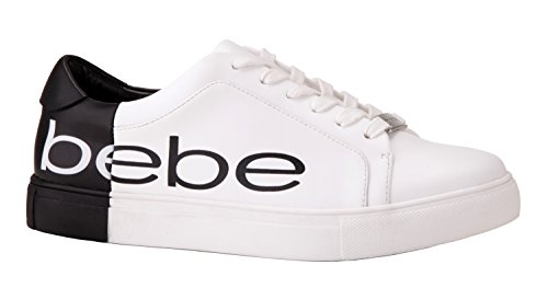 clearance release dates bebe Women's Charley Sneaker White/Black discount footlocker finishline MNKzH