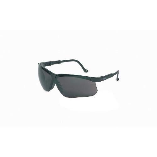 UVEX by Honeywell 763-S3242 Genesis Safety Eyewear, Vapor Blue Frame, Amber Lens, Ultra-Dura Anti-scratch Coating (Pack of 10)