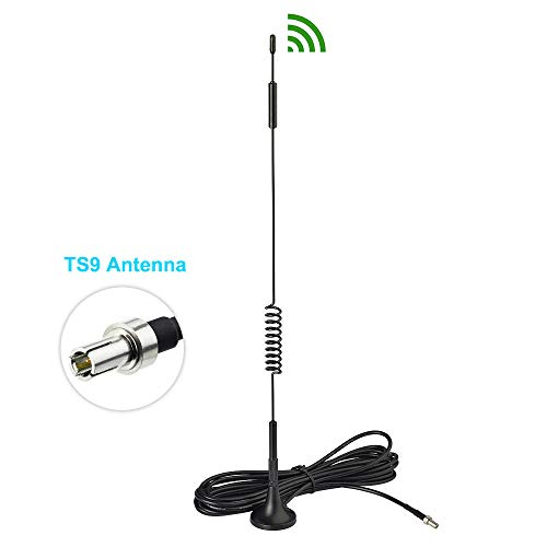 Bingfu 4G LTE 7dBi Magnetic Base TS9 Antenna Compatible with Verizon AT&T T-Mobile Sprint Netgear Huawei MiFi Mobile WiFi Hotspot Router USB Modem Jetpack AirCard AC791L 6620L AC815S AC770S AC781S