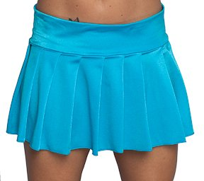 Amazon.com: Pleated Mini Skirt Turquoise Lycra. Junior Size Womens ...
