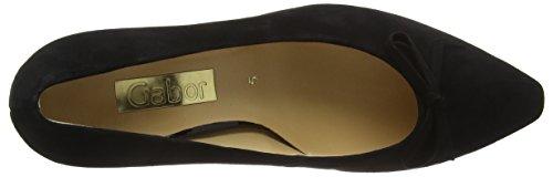 Gabor Shoes Basic, Zapatos de Tacón para Mujer Negro (Schwarz 17)