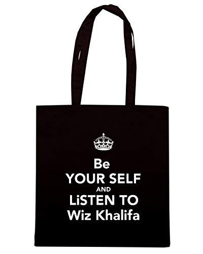 TKC3522 TO Borsa LISTEN KHALIFA Speed BE Shopper Shirt YOUR Nera SELF WIZ AND UIxAqSnv