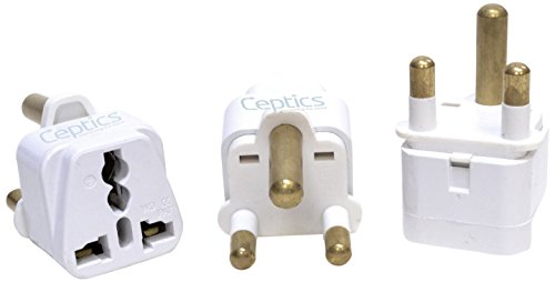 Ceptics South Africa Travel Plug Adapter  - 3 Pack