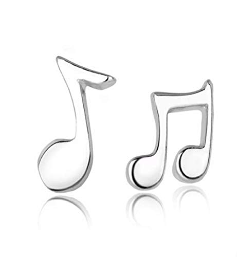 Clearance Sale!DEESEE(TM) Fashion Cute Lovely Musical Note 925 Sterling Silver Stud Earrings for Women Girls Earring Jewelry ()