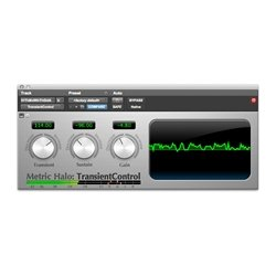 Metric Halo TransientControl Dynamics Plugin (Macintosh Native AU or A (Halo Metric)