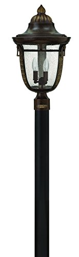 Hinkley 2901RB Traditional Three Light Post Top/Pier Mount from Key West Collection in Bronze/Darkfinish,