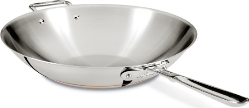 All-Clad 6414 Copper Core 5-Ply 14-inch Stir Fry Pan