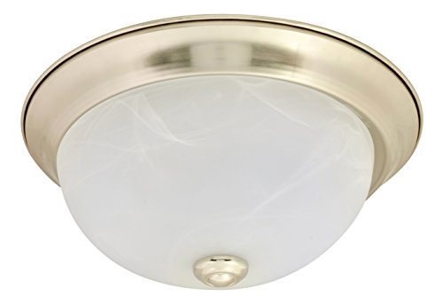 SYLVANIA 74302 Traditional LED Ceiling Dome with Brushed Nickel Finish, Energy Star Certified, 20W (75W Equivalent), Soft White 2700K -
