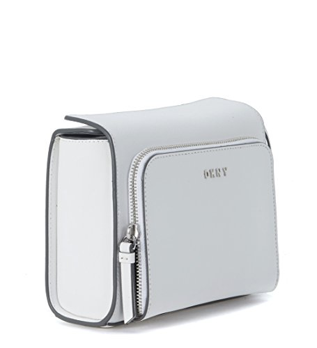 Pochette DKNY en peau saffiano blanche