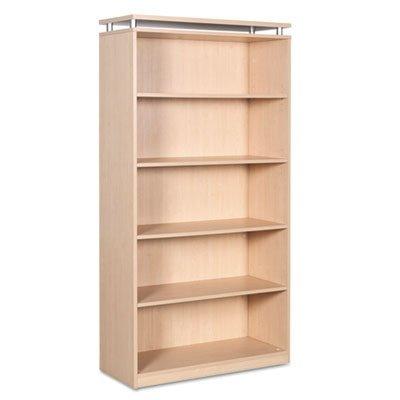 Alera Sedina Series Bookcase, 5-Shelf, 36w x 15d x 72h, Maple SE637236MP