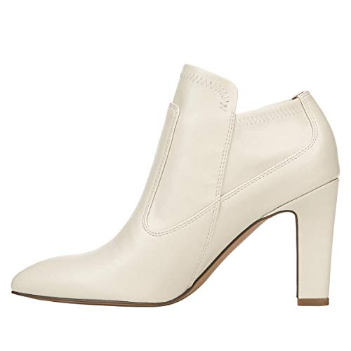 Franco Sarto Womens Kaye Pointed Toe Ankle Fashion Boots, White, Size 6.5