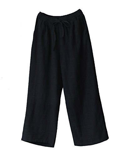de de lino Pantalones Pantalones algod de de lino qZFx44