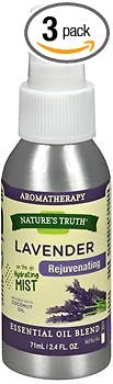 Nature's Truth Lavender Rejuvenating On the Go Hydrating Mist - 2.4 oz, Pack of 3 by Nature's Truth