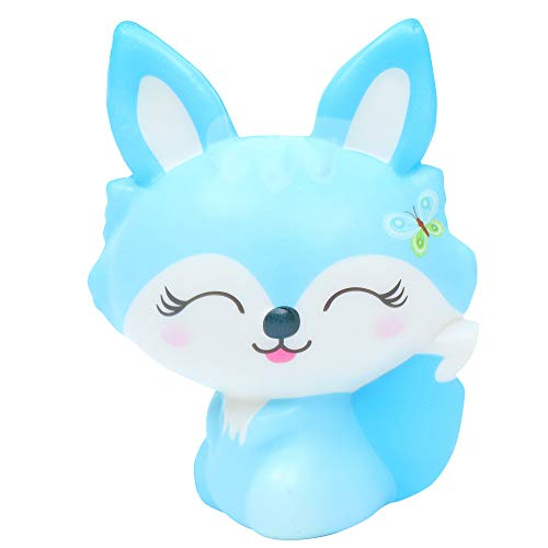 Squishes Toys , Elevin(TM) Kawaii Squeeze Squishy Slow Rising Jumbo Giant Scented Cartoon Cute Animal Fox Stress Reliever Toy (Blue)