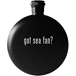 got sea fan? - 5oz Round Drinking Alcohol Flask, Matte Black