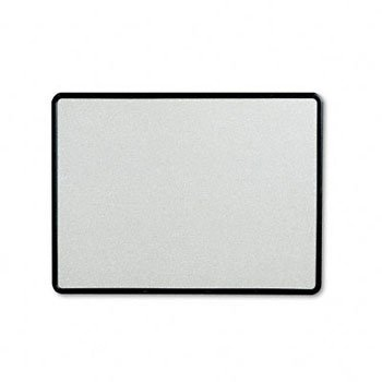 - Quartet 699375 Contour Granite Gray Tack Board, 48 x 36, Black Frame