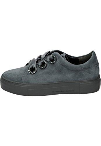 Kennel Mujer amp; Gris de Cordones Piel Schmenger para Zapatos de rrTx1vH