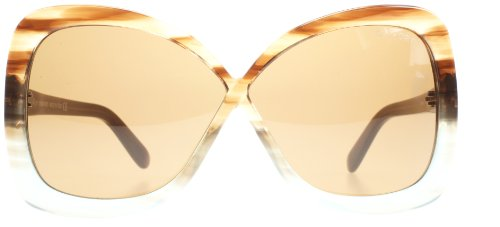 Tom Ford Calgary FT0227 Sunglasses-86J Tortoise Blue (Brown ()