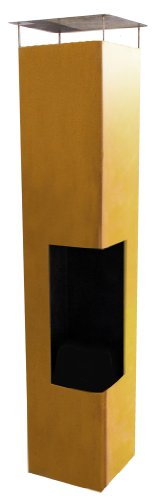 La Hacienda 56075US Oxidized Corten Steel Construction Tacora Chimenea, 36 by 59-Inch ()