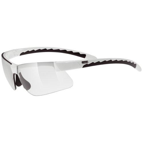 Uvex 2011 Active Sunglasses (White/Black - Smoke Lense)