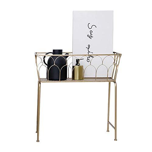 Jcnfa-Shelves Plant Stand Storage Shelf for Garden Storage Rack for Bathroom Living Room Metal Frame Standing Shelving Storage (Color : Gold, Size : 24.0110.2324.40in) from Jcnfa-Shelves