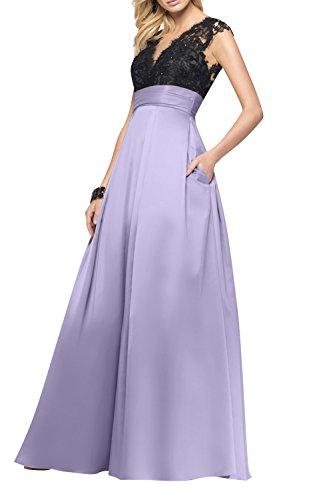 Lilac Festlichkleider Damen A Abendkleider Linie Langes Tanzenkleider Partykleider Promkleider La Rock mia Brau Spitze wOqxSFa1