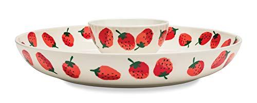 - Kate Spade New York Women's 2-Piece Melamine Chip and Dip Serving Bowl Set, Strawberries