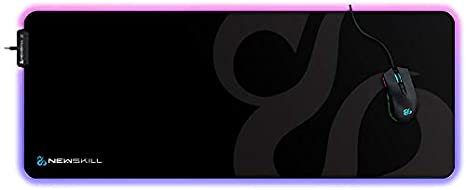Newskill Nemesis - Alfombrilla gaming de microfibras RGB (talla XL) color negro