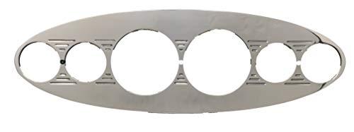 Dolphin Gauges Universal Oval (6) Gauge Dash Panel Insert - Polished Billet - Insert Gauge Dash