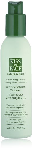 Kiss My Face Balancing Antioxidant Facial Toner and Skin Toner, 5.3 Ounce Bottles (pack of 3)