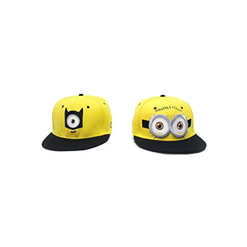 LiveOut Minion 2 Pack Teen Age Hip-Hop Baseball Cap With Adjustable Snapback - One Eye + Two Eye