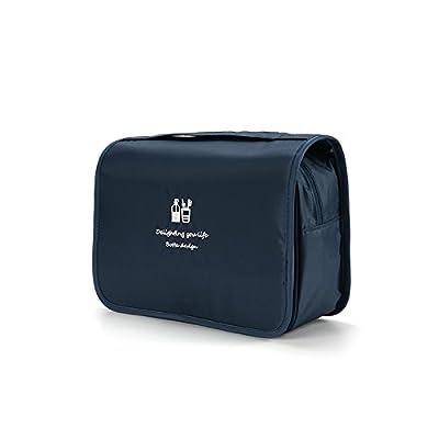 LULANProduits cosmétiques de voyage sac de voyage bain de lavage forfait forfait hommes et femmes imperméable sac de voyage baignoire,24*20*10cm, bleu foncé