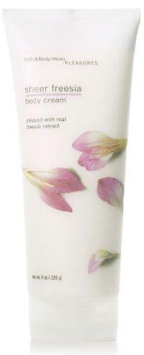 Bath & Body Works Sheer Freesia Plaisirs Collection Body Cream 8 fl oz (226 g)