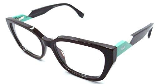 Fendi Rx Eyeglasses Frames FF 0169 PJQ 52-16-140 Dark Burgundy Made in Italy