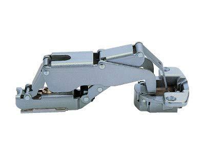 Sugatsune H160-34-23: 23mm Overlay Concealed Hinge (Free-Swinging) - Chrome