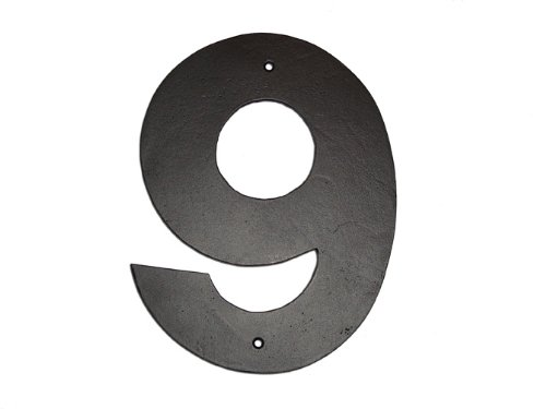 Montague Metal Products Helvetica Font Individual House Number, 9, 10-Inch