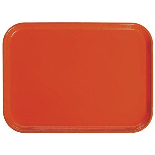 Citrus Orange Rectangular Camtray Fiberglass (Cambro Camtray Rectangular Citrus Orange Fiberglass Tray - 18