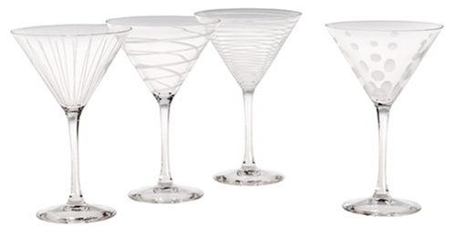 Mikasa Cheers Martini Glass, 10-Ounce, Set of 4 (Crystal Martini Glasses)