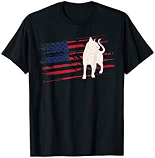 Abyssinian US American Flag Kitten 4th Of July USA Gift T-shirt | Size S - 5XL