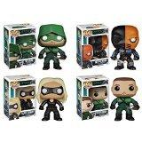 Arrow TV Series Set: Hooded Arrow, Oliver Queen, Black Canary & Deathstroke Pop! Vinyl Figures