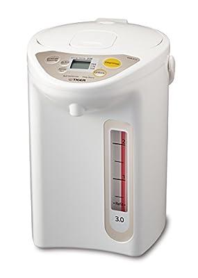 Tiger PDR-A30U WU Micom Electric Water Boiler & Warmer, 3 L, White