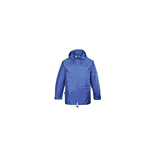 Portwest – Chaqueta impermeable, color negro Naranja