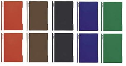 BRUNNEN 13 Schnellhefter A4 farbig sort 1020109.. PP-Folie glasklares Deckbl