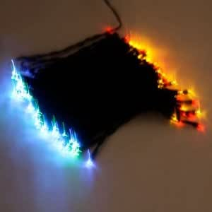 100 LED Solar Neon Light RGB String Lamp Festival Deco
