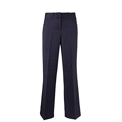 Alexandra Womens/Ladies Icona Wide Leg Formal Work Suit Pants/Trousers (10R) (Navy) (Smart Parts Pants)