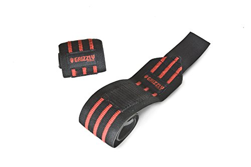 Grizzly Fitness Heavy Duty Wrist Wraps, 20-Inch, Red by Grizzly Fitness
